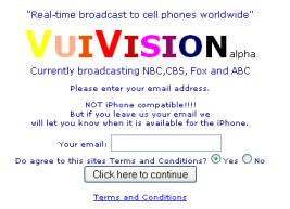 TV fechada no celular