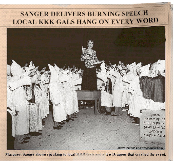 the truth about margaret sanger  what did margaret sanger say in her talk at the kkk rally