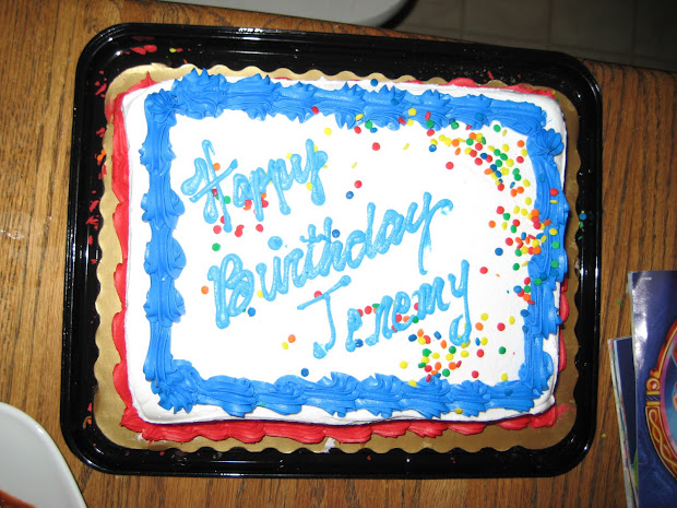 Happy Birthday Jeremy Cake