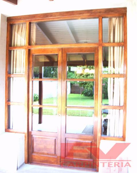 Fv carpinter a puertas for Puerta de madera doble estilo antiguo