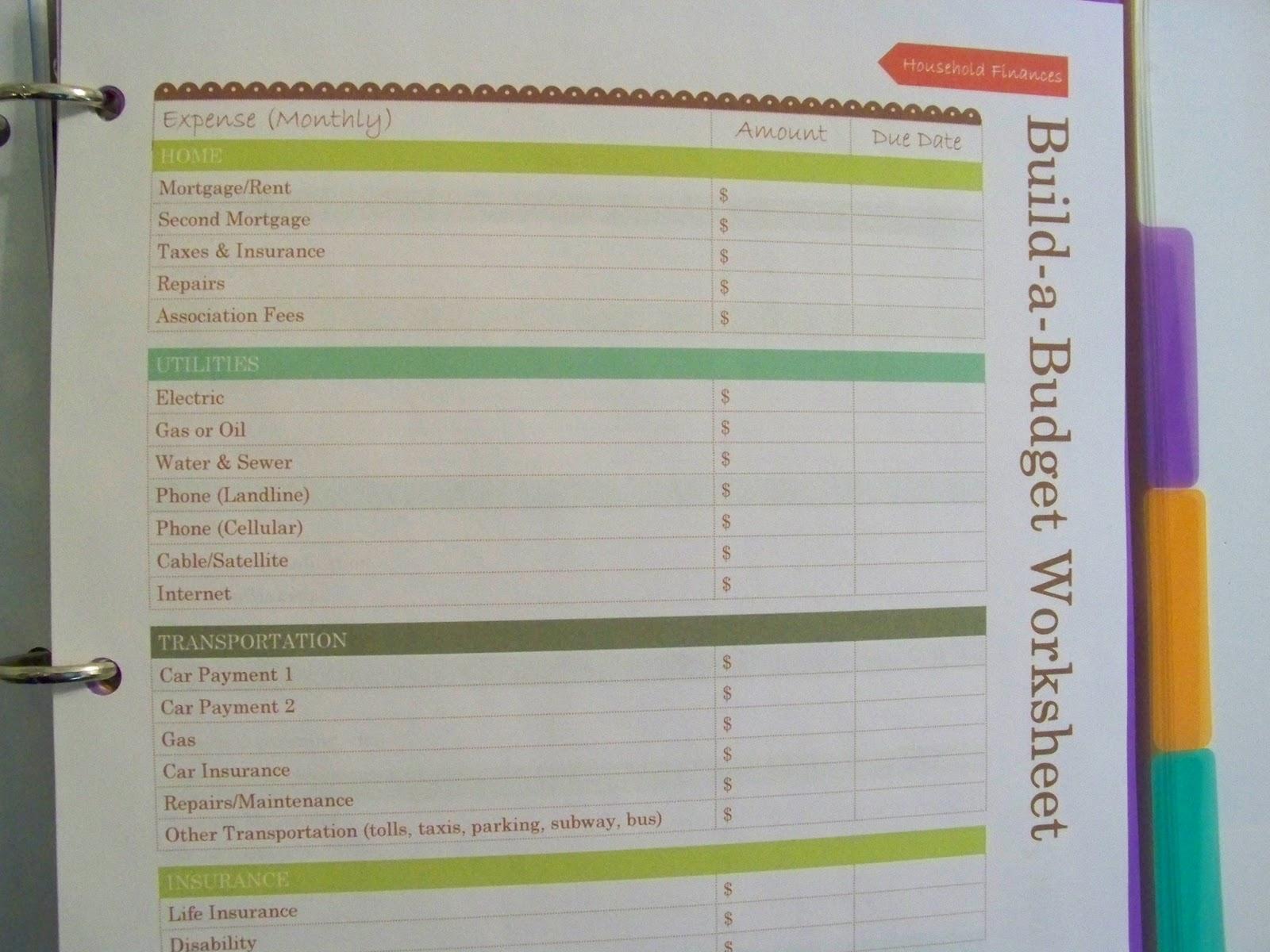 Easy Frugal Living New Household Management Planner