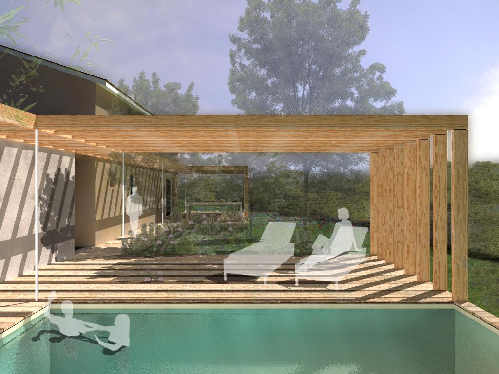 une pergola en bois penmie bee. Black Bedroom Furniture Sets. Home Design Ideas