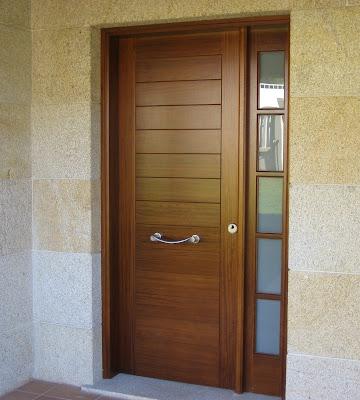 Catalogo de puertas de maderas cocinas integrales en madera for Puertas de entrada de madera modernas