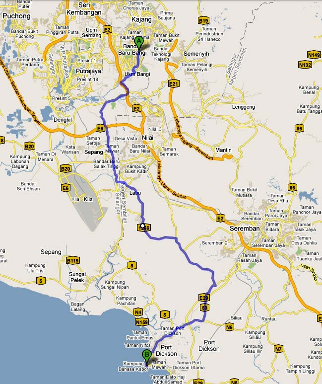 map to port dickson