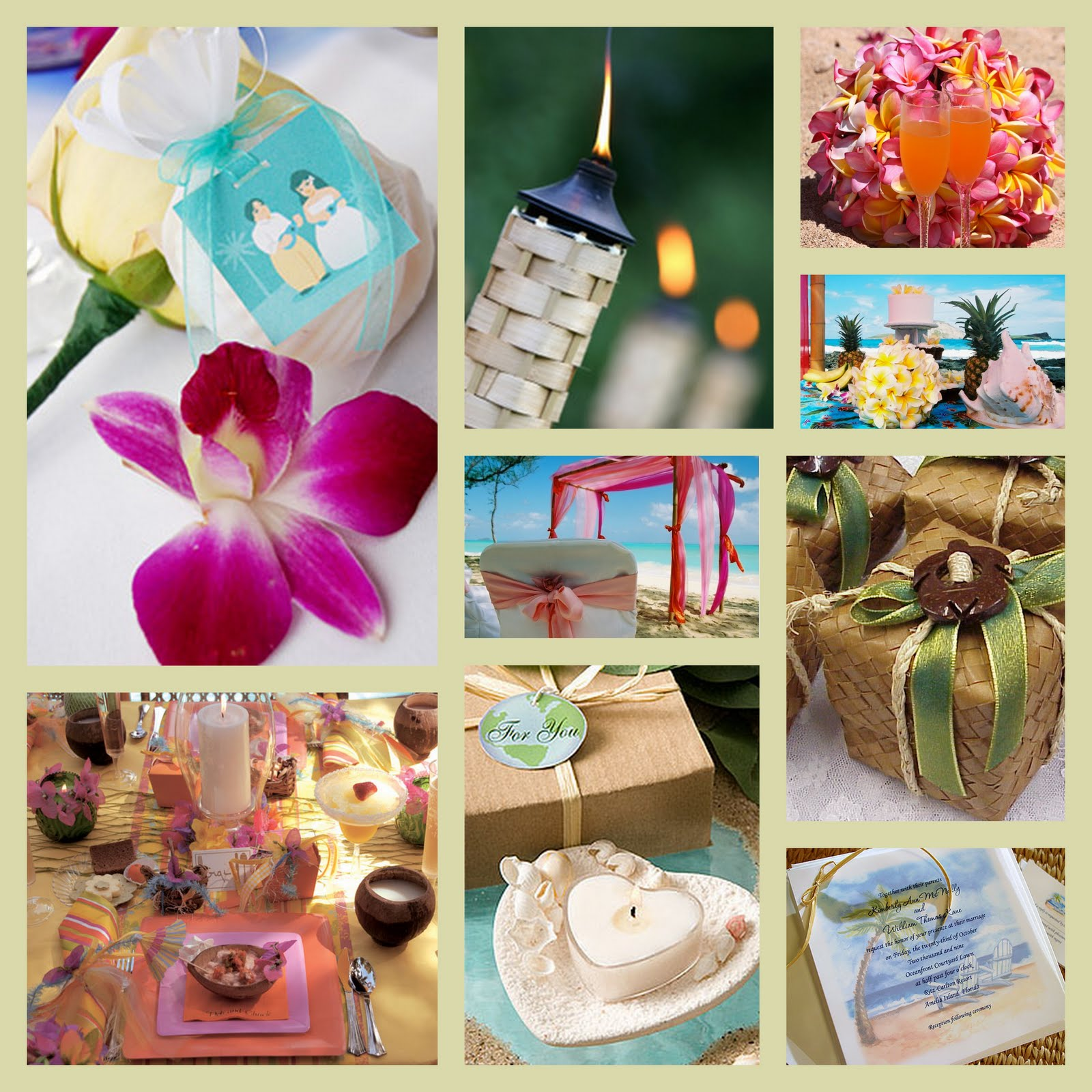 Hawaiian Themed Wedding Ideas: Premier Bride Magazine: Texas: Wedding Theme: Hawaiian/Luau
