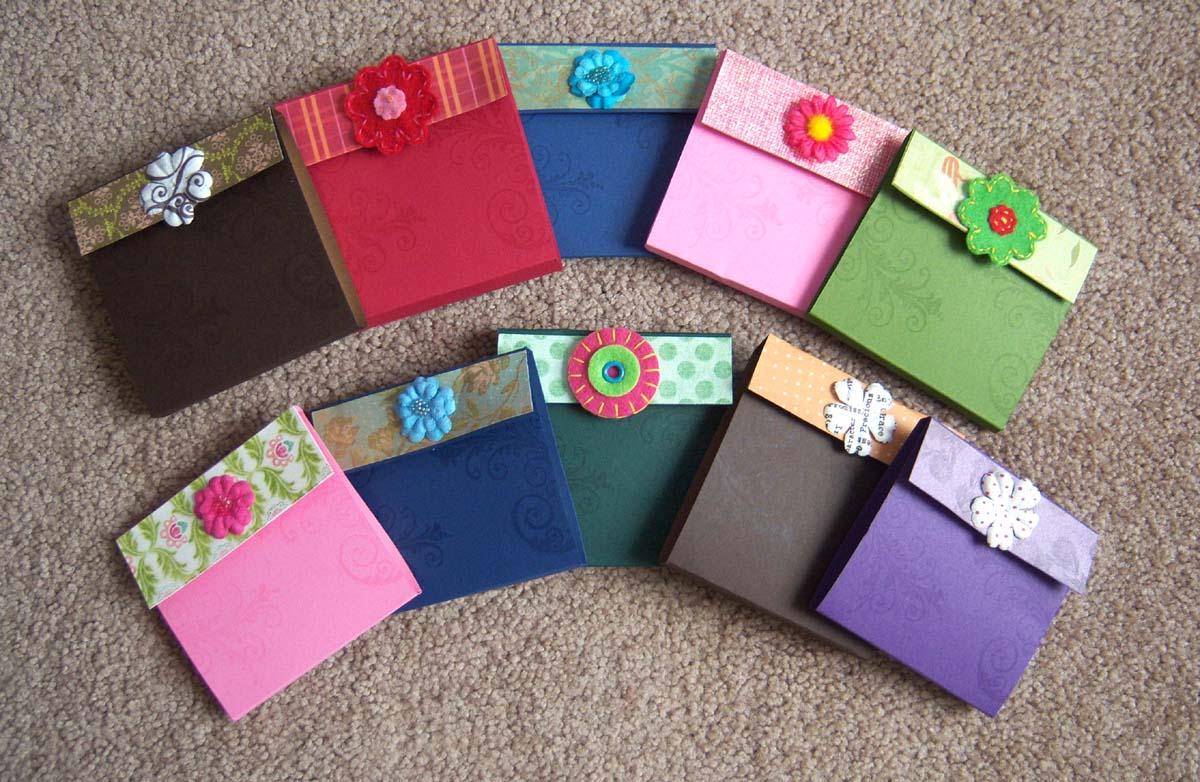 Shoregirl's Creations: Bucket Handbag Gift - Post it note ...