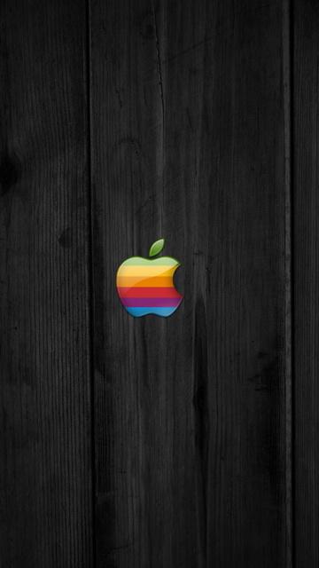 Animated Skull Wallpaper 360x640wallpapers Apple Logo On Wood