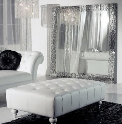 Love your place sophisticated modern italian glamour in - White living room decor ...