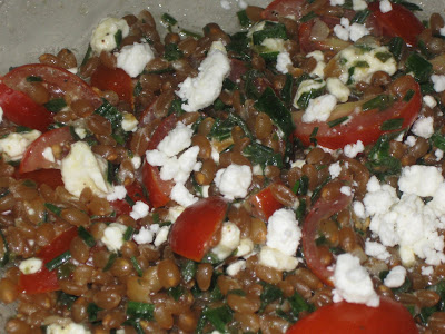 Wheat Berry Salad  -  Fresh Herb and Feta