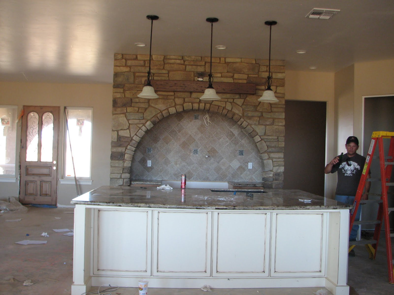 Granite and Fans and Fireplace, Oh My!