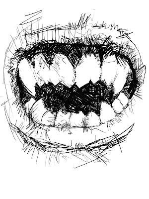 Vampire Teeth Drawing : vampire, teeth, drawing, Greg's, Online, Journal:, Vampire, Teeth