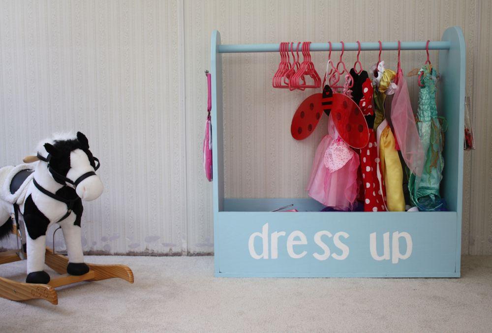 Dress up wardrobe for playroom