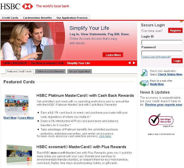 omurtlak57: hsbc credit card site