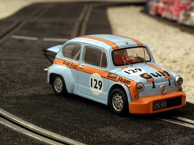 1/32 scale Fiat Abarth slot car by SCX - Subcompact Culture