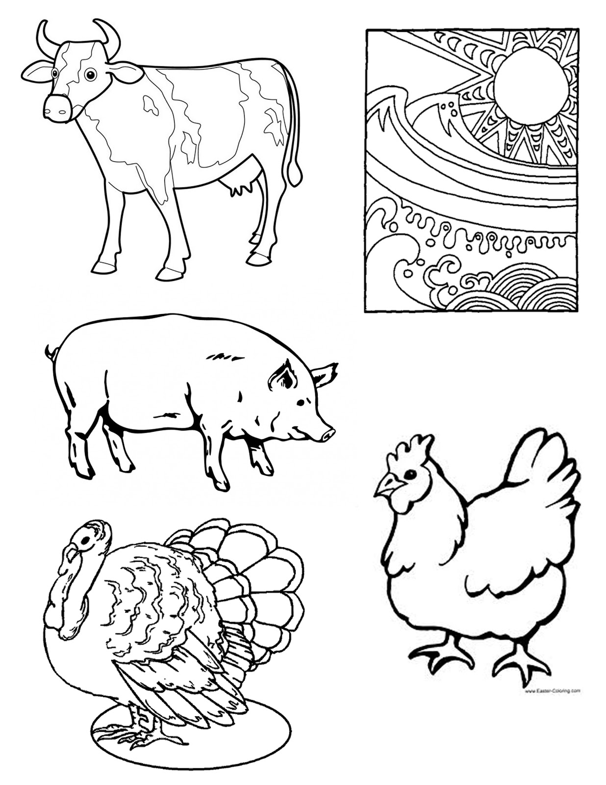 Meat Food Group Coloring Pages