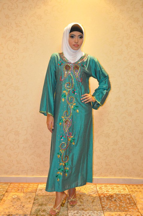 Muslimske kvindes mode Jalabiya modesalg-2374