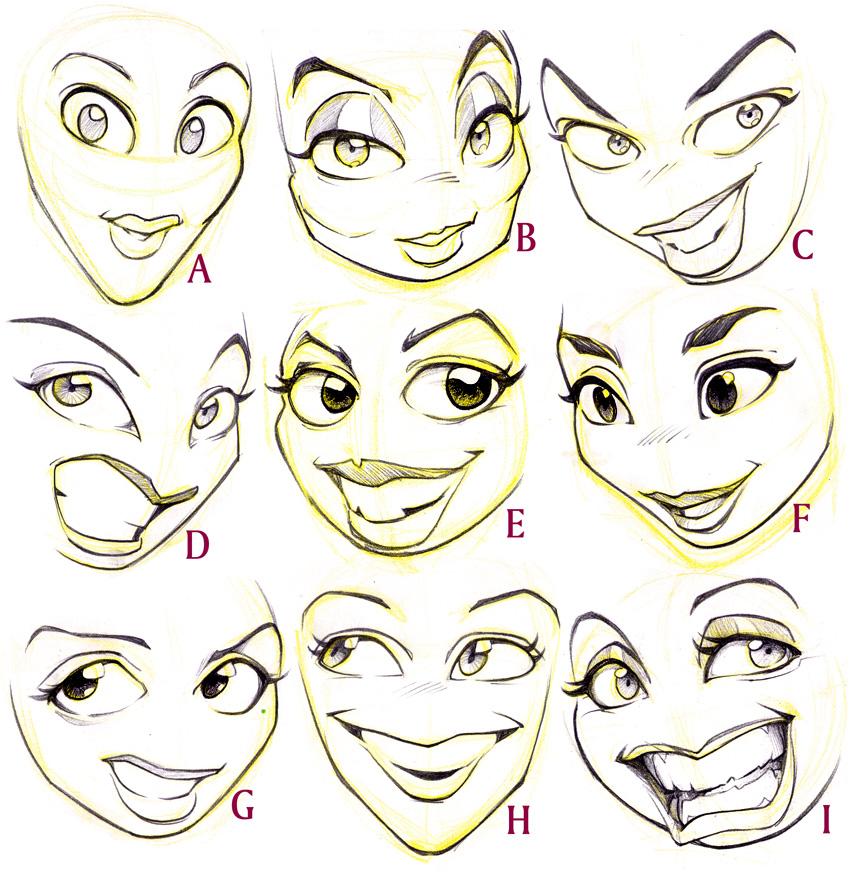 Cartoon Cartoon Faces