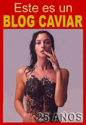 Monica Belucci (modelo italiana) untada en huevera de esturión (conocido como Caviar)