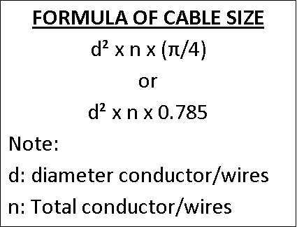 how to calculate wire size formula
