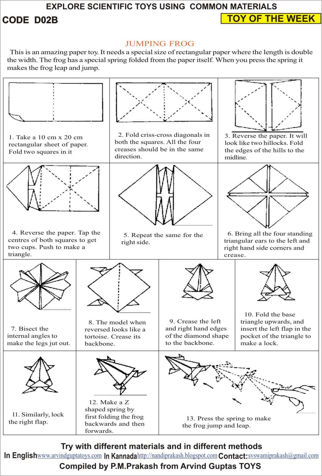 Origami Jumping Frog Diagram Thermistor Symbol Electrical 1000 43 Images About Instructions For Class On