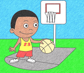 How To Draw Cartoons Basketball Player