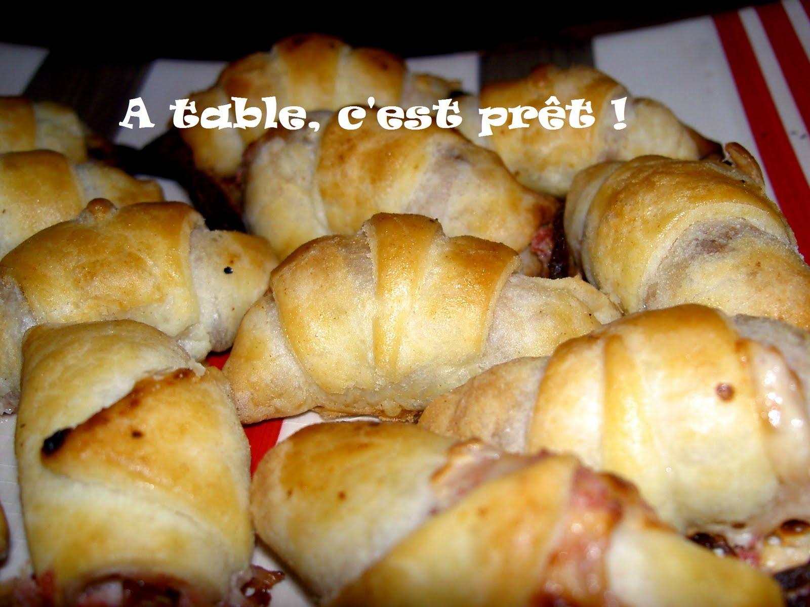 croissants maison a la pâte fruillete