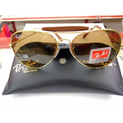 4279d533a5775 Hanilzam s Online Store  New Ray Ban RB3422Q Gold Brown Leather (L)