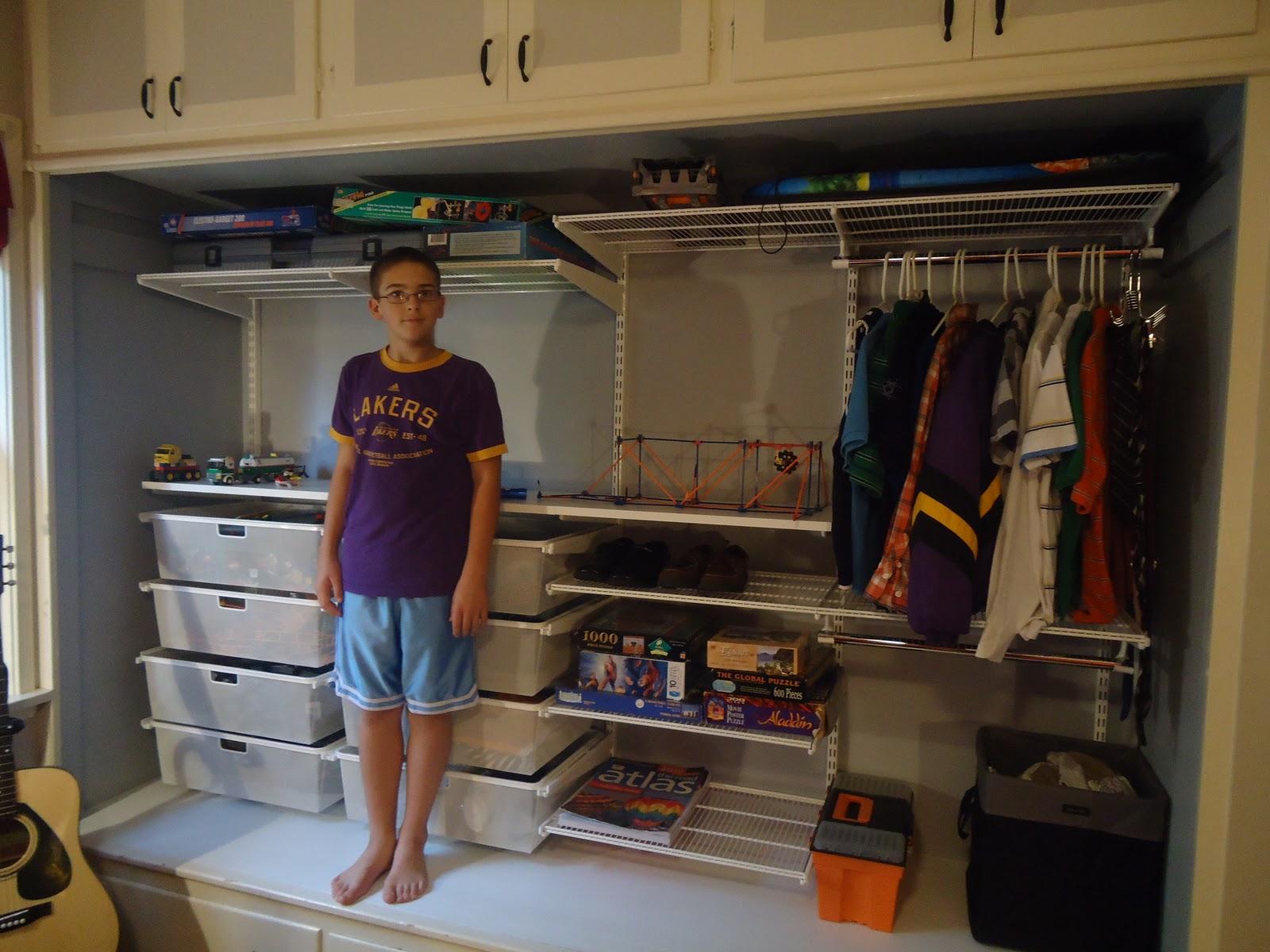 My boy's closet...close up and organized! | Organizing ...