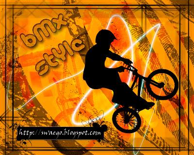 Постер BMX STYLE в Фотошоп