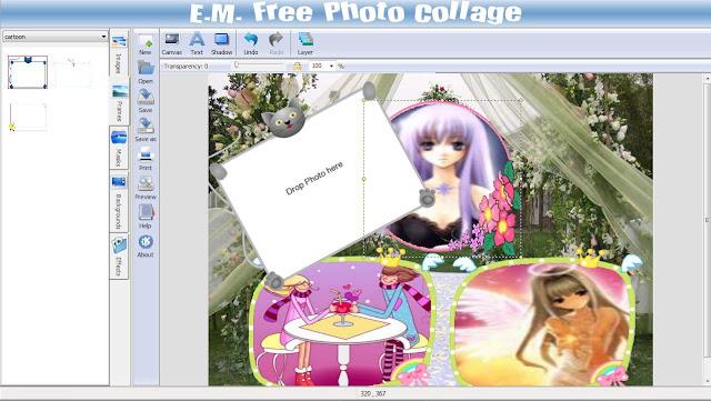 Бесплатная программа для скрапбукинга E.M. Free Photo Collage.