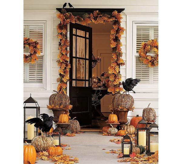 Fall Door Displays: Modern Vintage Coastal...: Autumn Decorating With Lanterns