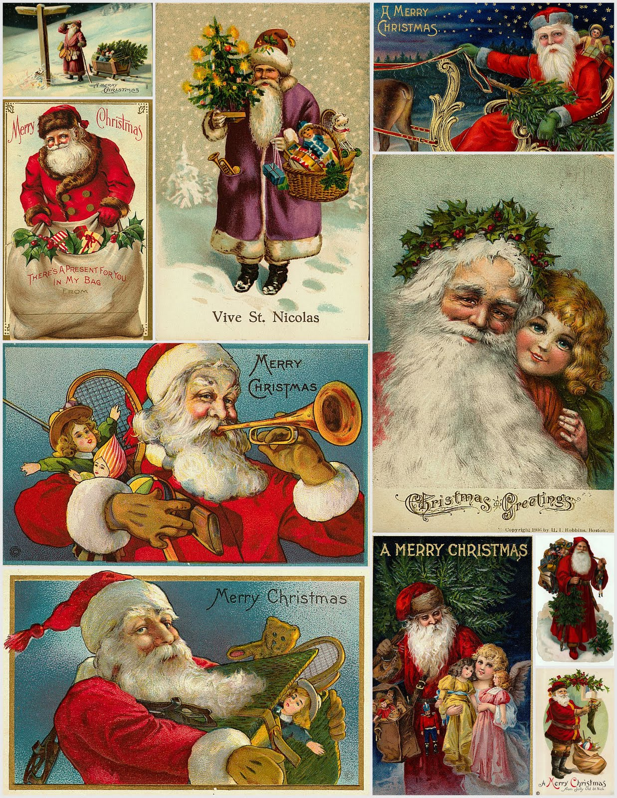 Magic Moonlight Free Images Christmas Collages For You