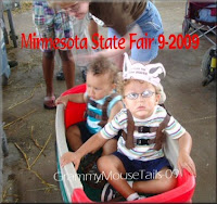 grandsons ride wagon at Minnesota state fair photo image