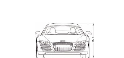 Fuzzy's Audi r8 commercial: Audi R8 blue print template