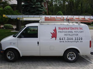 Professional potlight installation