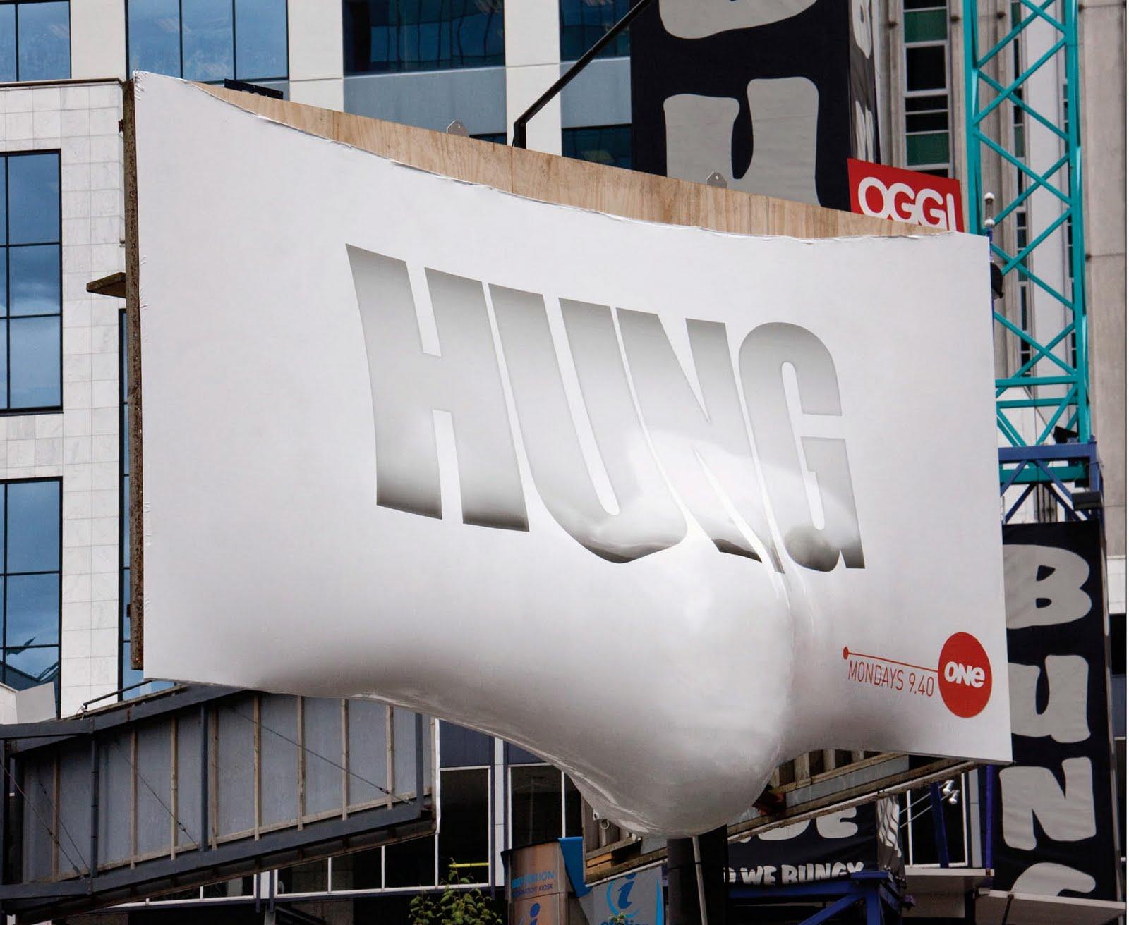 Hung billboard