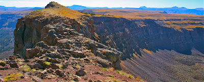 The Devil's Causeway is a small eroded spit of land connecting two ridges.  While those without a fear of heights can just walk across, most other humans cower before it.