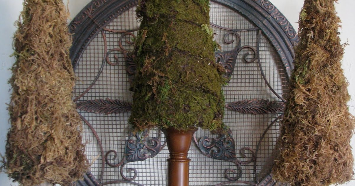 The Gathering Place Design Pillar Candle Holder Moss Trees