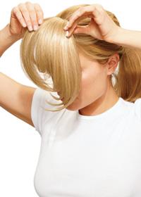 Frangetta finta capelli veri