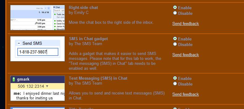 Sending Text Messages Through Gmail