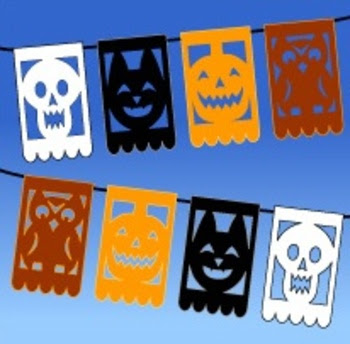 Halloween printable halloween printable crafts for Papel picado template for kids