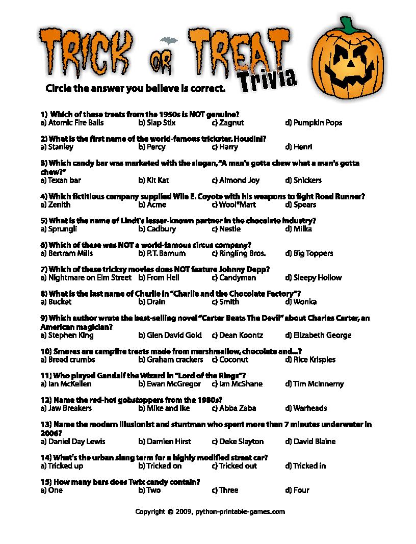 Printable Halloween Game — Crafthubs