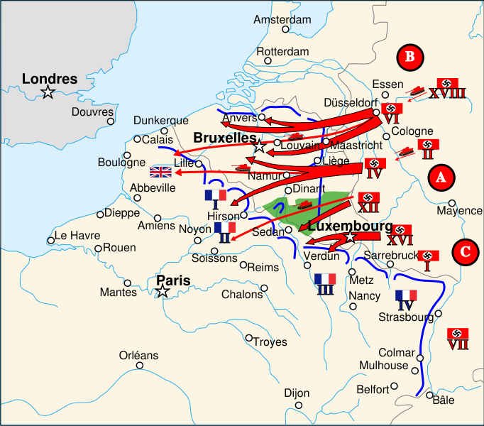 Map Of France 1940.Map And Counters Tahgc France 1940 1972
