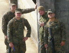 My Nephew Joe and Three Marine Buddies