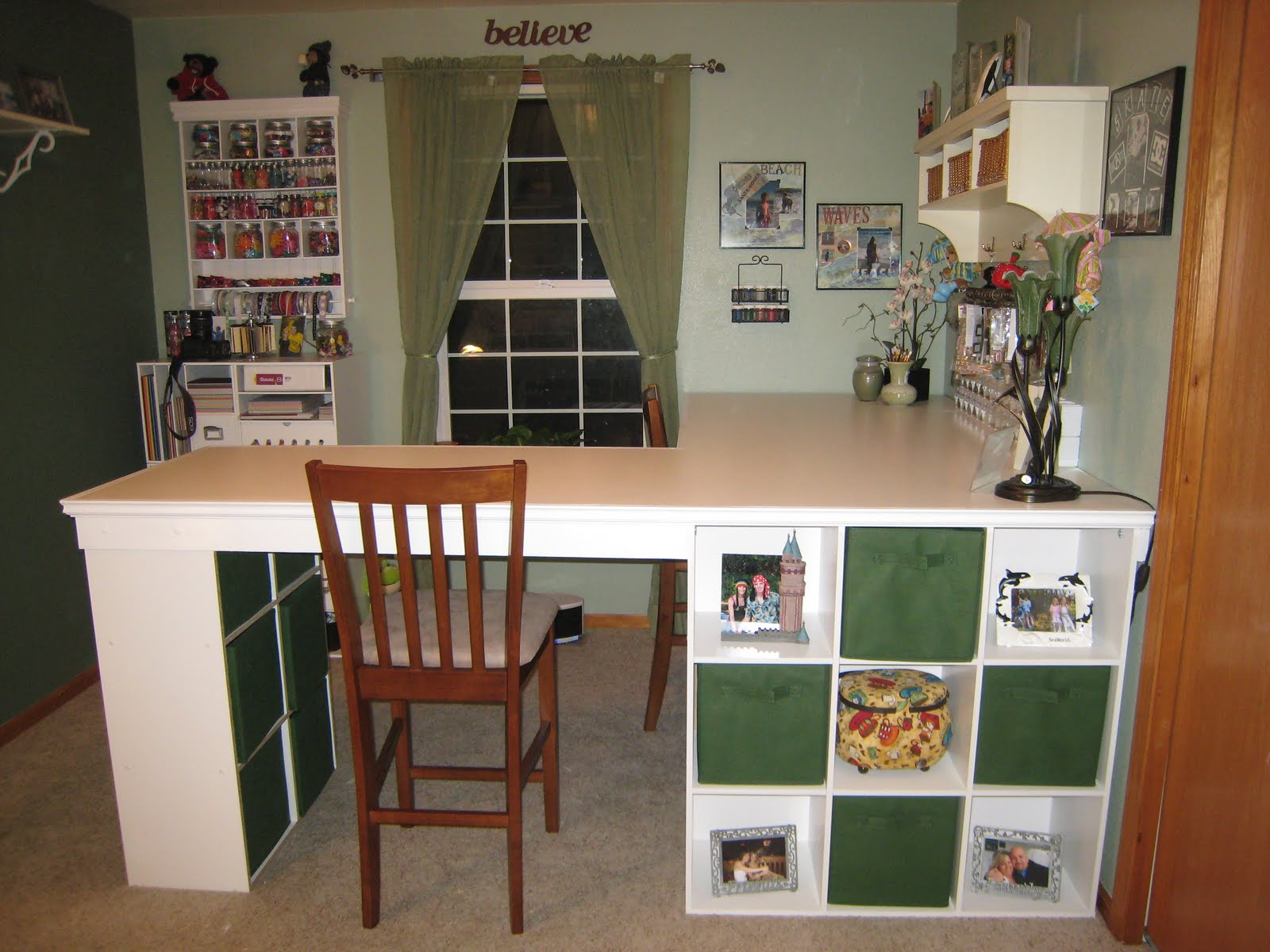 Storage For Craft Room: DO IT YOURSELF WHITE CRAFT DESK: HOW TO BUILD A CUSTOM