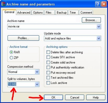 How To Split a File and Combine part1 rar, part2 rar Files Using WinRar?