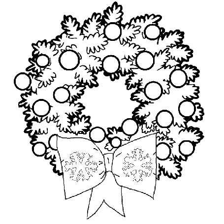 Christmas Wreath Coloring Pages Wreath Ornaments Learn To