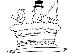 Christmas Cake Kids Coloring Pages