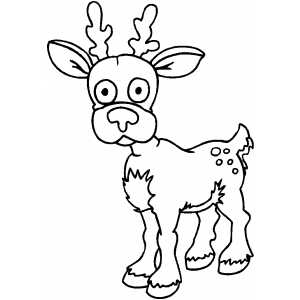cartoon deer coloring pages - photo#28