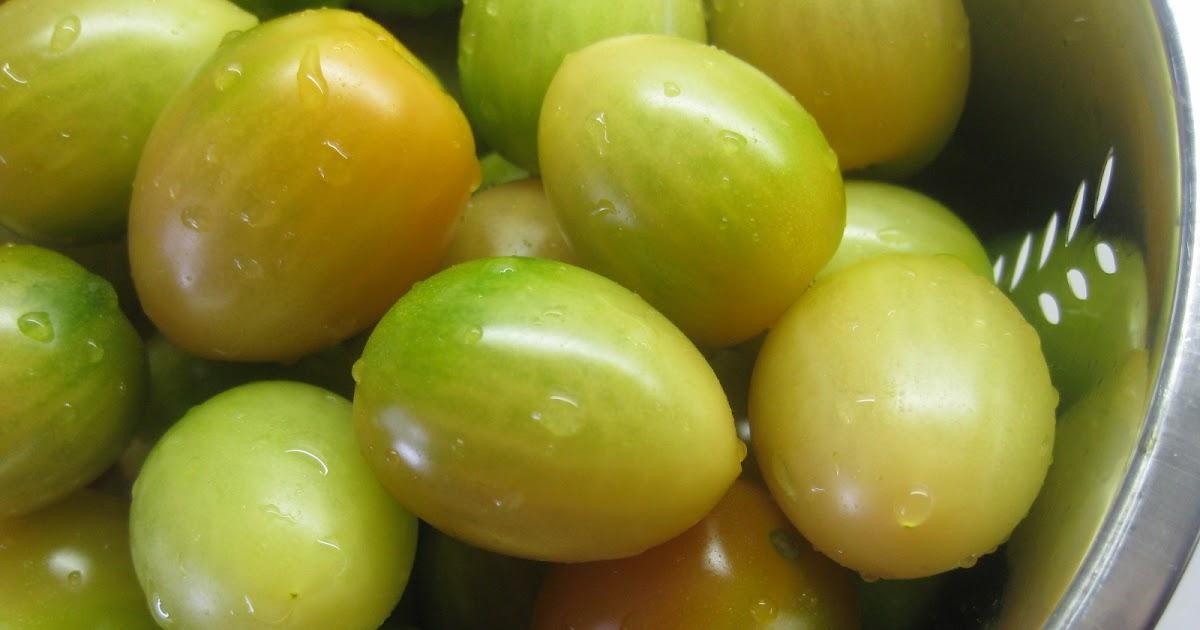 Klidmoster.dk: Syltede gule tomater og perleløg...